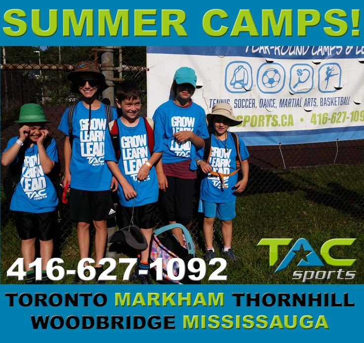 SUMMER CAMPS: SPACES AVAILABLE in #Toronto & the #GTA from TAC Sports Camps!  ★ $50 OFF with discount code SNYMED! ★  CALL: 416-627-1092 | E-mail: info@tacsports.ca  INFO: http://www.snymed.com/2017/07/summer-camps-spaces-available-toronto.html  #Toronto #Markham #Thornhill #Woodbridge #Mississauga #camp #camps #summercamp #summercamps