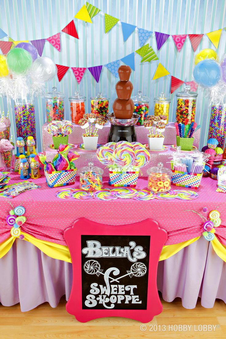 rainbow candy buffets