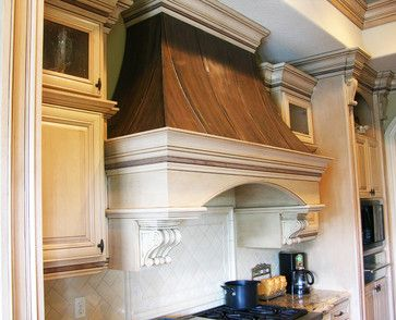 Wood+Copper Kitchen Range Hood traditional kitchen hoods and vents