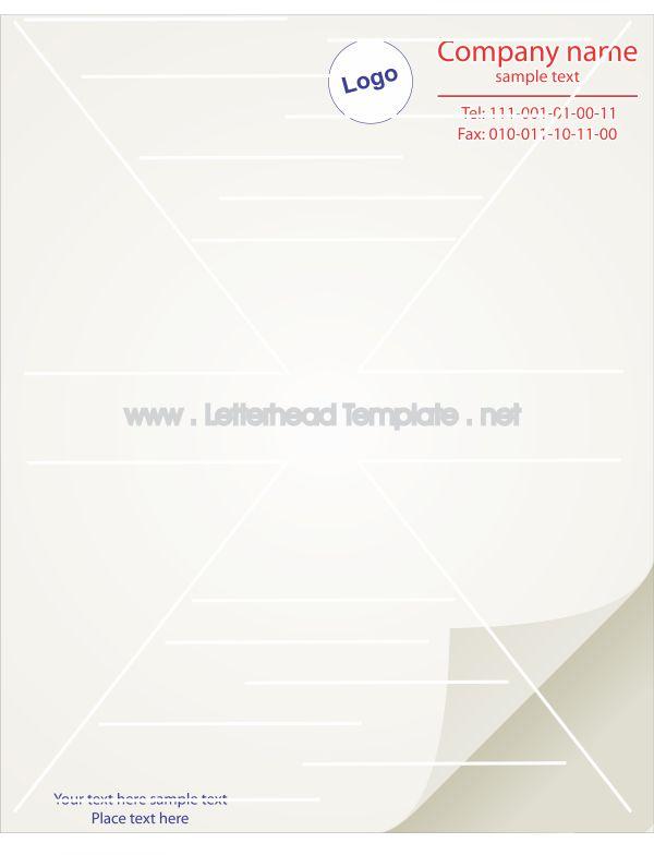 Plain letterhead template