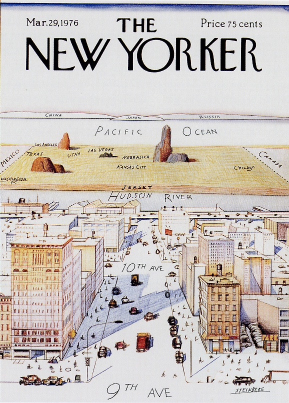 Best Saul Steinberg Images On Pinterest Saul Steinberg - New yorker map of the us