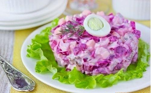 Салат «Ленивая шуба» | Домохозяйка