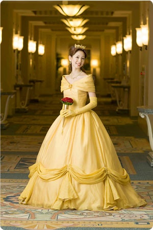 When you get married at Tokyo Disneyland, you can't bring in your own dress, you have to rent one from them...I don't see a problem with this.