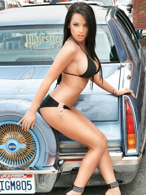 Lowrider Magazine Model Seanna Mitchell And A Custom