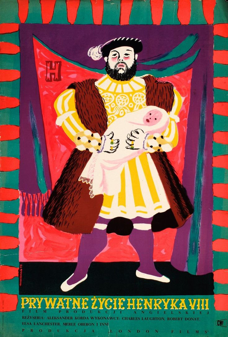 Poster for The Private Life of Henry VIII (1933) by Jozef Mroszcak