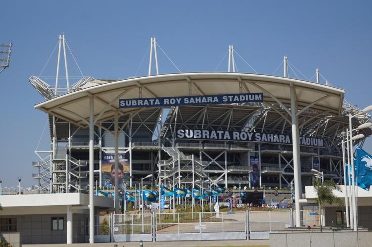 Subrata Roy Sahara Stadium,Where IPL Matches are Held In Pune. www.facebook.com/ezeerooms for more action.