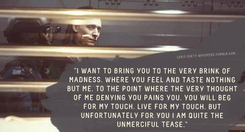Exactly how I imagined. ♥ Loki's Dirty Whispers