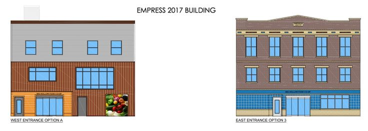 Design concepts for the east and west view of the new Empress!