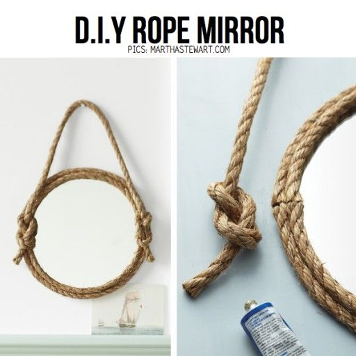 Best 25 rope mirror ideas on pinterest nautical mirror for Where to buy nautical rope for crafts