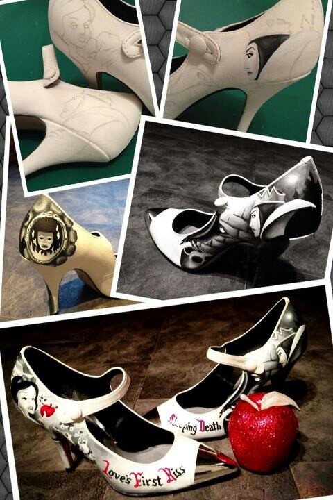 #Electric paintbrush customised shoes! Want snow white ones!!! :-)