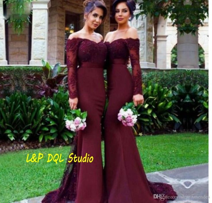Sexy Burgundy Bridesmaid Dresses Strapless Long Sleeve Mermaid Elastic Satin Sweep Train Bridesmaid Gowns 2017 Petite Bridesmaid Dresses Sage Green Bridesmaid Dress From Shawnmendes, $91.06| Dhgate.Com