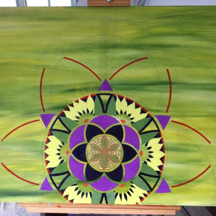 Green mandala progress