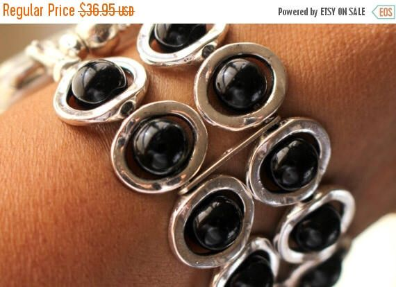 On Sale Ends Monday PM Apple Watch Band, Watch Band for Apple Watch, Silver Ovals and Black Beads Band for Apple Watch by jewelrysldesigns on Etsy https://www.etsy.com/listing/499253148/on-sale-ends-monday-pm-apple-watch-band