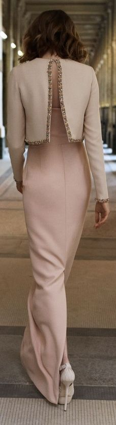 Christian Dior | An entrance is just as important as an exit.  | Those back details | Elongated elegance