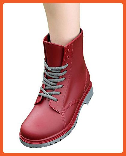 LaoZan Women's Military Boots - Waterproof Breathable and Warm - US 8£¨Foot length 24.5 - 25 CM) - Wine Red - Boots for women (*Amazon Partner-Link)