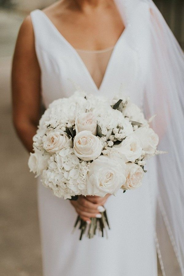 20 Best Greenery Wedding Bouquets Roses Rings Rose Bridal Bouquet Bridal Bouquet Styles White Bridal Bouquet