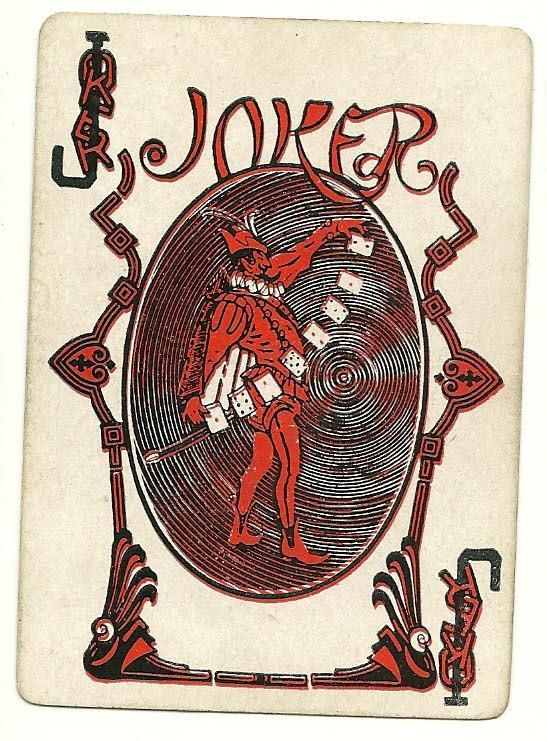 "lovely old joker from Delands ""Daisy"" deck"