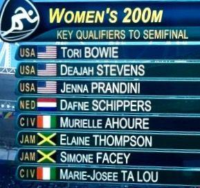 200m USA Track Go Jenna Go