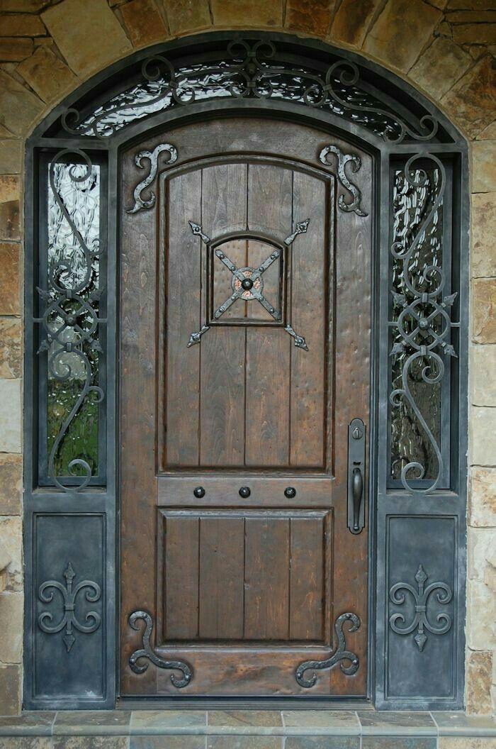 Resultado De Imagen Para Puertas Principales Rusticas Wooden Front Doors Front Door Design Rustic Front Door