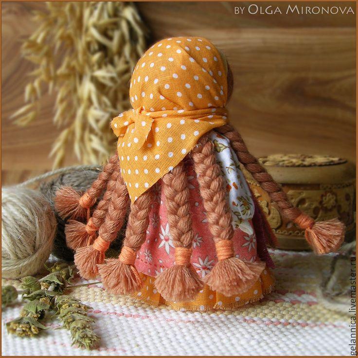 Купить Огневушка - оранжевый, оневушка-поскакушка, куколка, народная кукла, тряпичная кукла, текстильная кукла
