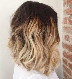 Blonde Ombre Shoulder Length Bob Haircut