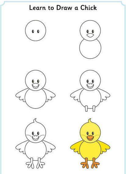 Рисуем просто и весело - Поделки с детьми   Деткиподелки