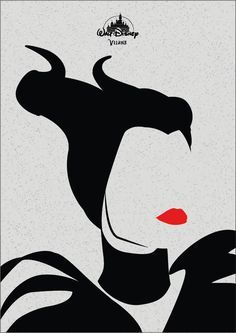 Minimalist Disney Villains on Behance