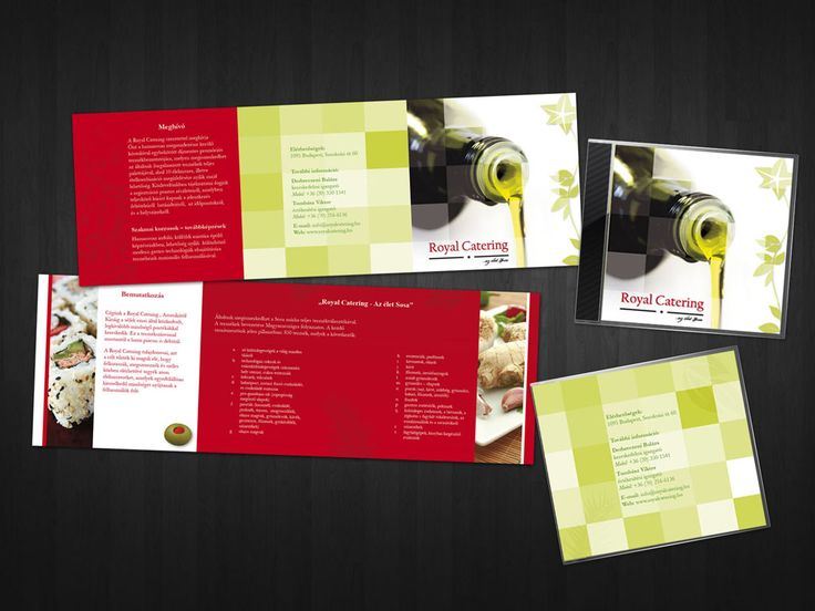 Best Custom Brochure Design Printing And Shipping Images On - Catering brochure templates