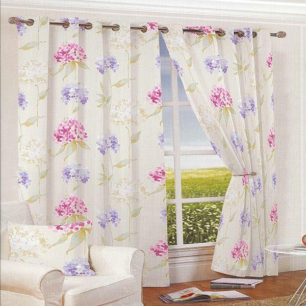 Summer Garden Pink Eyelet Curtains
