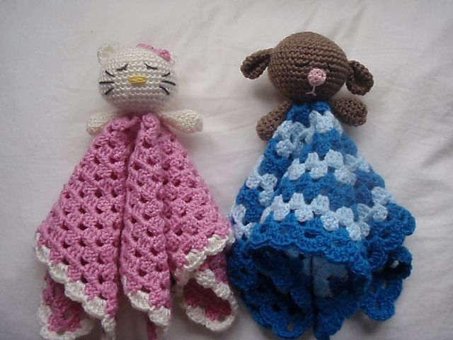 Free Crochet Pattern For Baby Toys : 117 best images about BABY SNUGGLE/COMFORT BLANKETS - FREE ...
