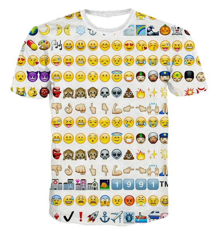 Cheap men tees, Buy Quality funny t shirts directly from China t shirt Suppliers: 2016 new 3d funny t shirts emoji kawaii concentrated big face whatsapp/wechat cute emoji /weed/pills/ devils/ women/mens tees