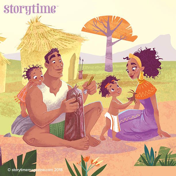 Manzandaba –the woman who first brought stories to the world! A wonderful African tale in Storytime Issue 42. ~ STORYTIMEMAGAZINE.COM