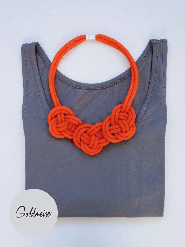 Statement-Kette aus handgefärbten Seil // statement necklace by Goldmeise via DaWanda.com