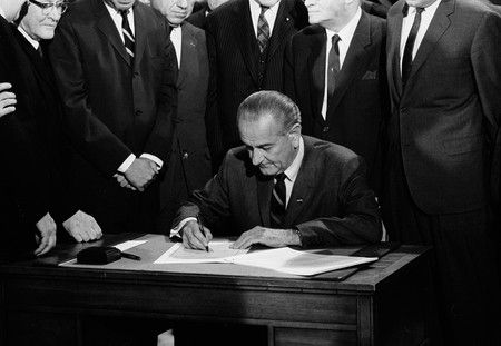 On April 11, 1968 President Lyndon Johnson signed a bill which made it a crime to interfere with civil rights workers and to cross state lines to incite a riot.