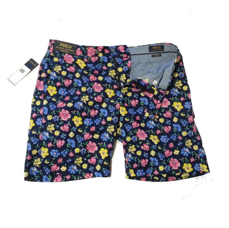POLO Ralph Lauren Men u0027s shorts Size 32 BLACKWAT MULTI CHILL STRAIGHT  cotton RalphLauren 31cb3d22e412