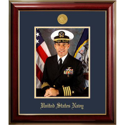patf navy portrait classic picture frame