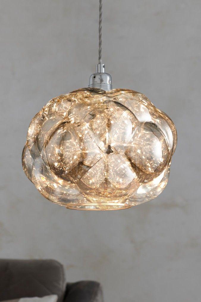 Next Mirage Easy Fit Pendant Chrome Ceiling Pendant Lights Bedroom Ceiling Light Led Bulb