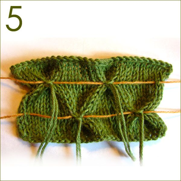 Although this is for knitting, I was thinking this may work with Tunisian crochet. How to add smocking to Stockinette Stitch fabric.