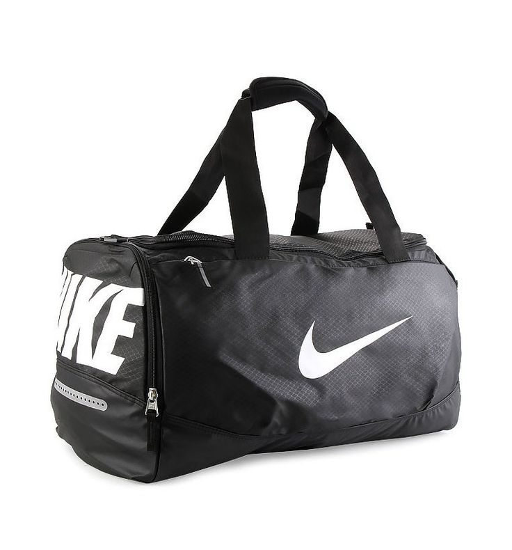 Team Training Max Air Med Gym Bag by Nike. Gym bag that made from polyester, with black color, one main compartment with zipper closure, this gym bag is water resistant, looking for bag that provides maximum carrying comfort and several storage? this one is your answer. Adjustable strap up to 1225 cm.%0A http://www.zocko.com/z/JG0ia