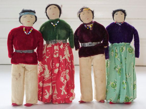 1940's Navajo Cloth Doll Family Collection by NaturalFree on Etsy, $300.00