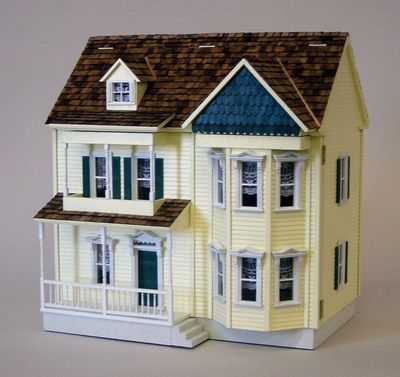 17 best images about doll house 1 144 on pinterest queen for Victorian kit homes