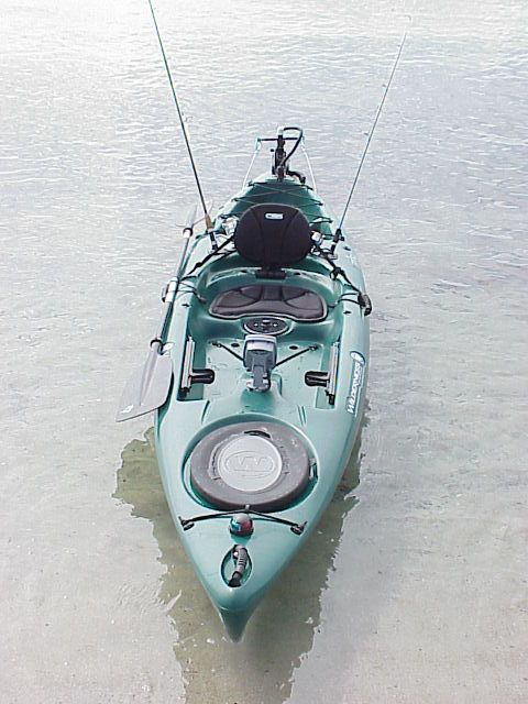 What an awesome kayak for fishing. http://bassyaks.com