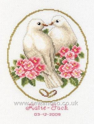 Doves of Love Wedding Sampler - Sew and So - Vervaco