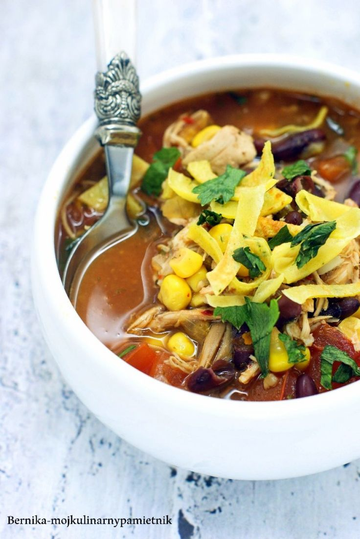 Enchilada soup with chicken