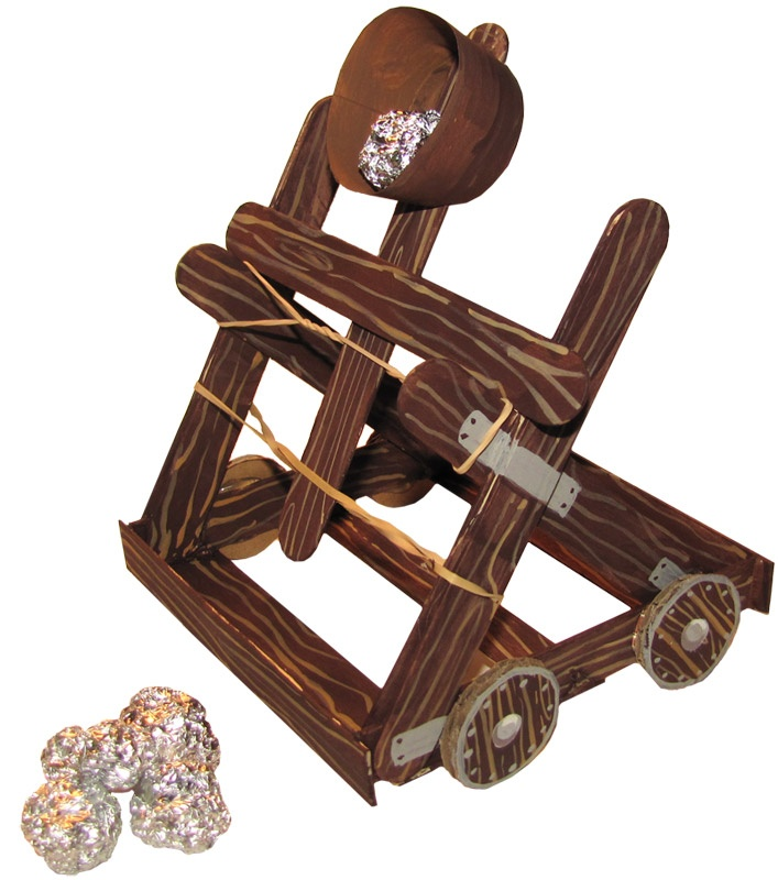 Make your own working catapult! (Directions are included in the Project Passport: The Middle Ages)
