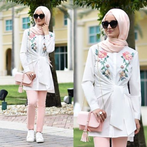 Hijab summer style-Street fashion style – Just Trendy Girls