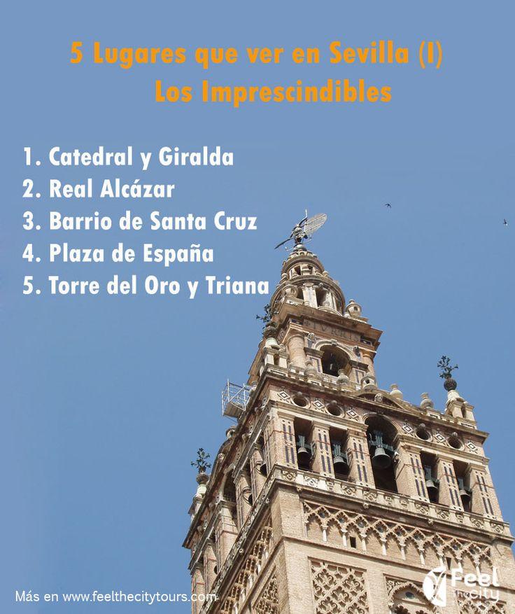 Los lugares imprescindibles que ver en Sevilla. http://www.feelthecitytours.com/que-ver-en-sevilla/5-lugares-imprescindibles/