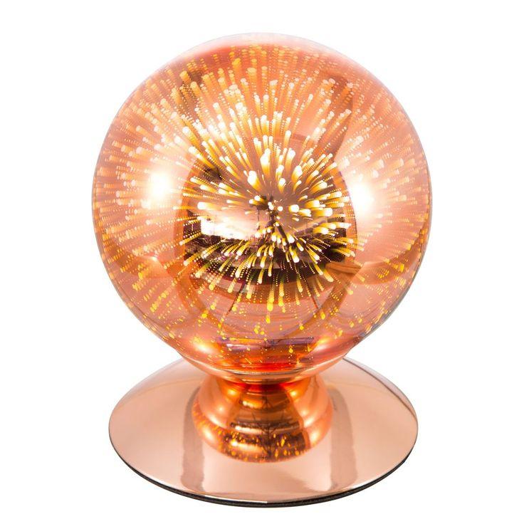 EEK A++, LED-Tischleuchte Firework - Effektglas / Eisen - 1-flammig - Kupfer, Nino Leuchten Jetzt bestellen unter: https://moebel.ladendirekt.de/lampen/tischleuchten/beistelltischlampen/?uid=6958cec9-d872-585a-9545-4769d7c32205&utm_source=pinterest&utm_medium=pin&utm_campaign=boards #leuchten #lampen #tischleuchten #innenleuchten #beistelltischlampen #nino