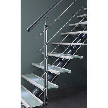 kit de rampe tube gris fonc pour escalier mona escapi leroy merlin 15 561 escalier. Black Bedroom Furniture Sets. Home Design Ideas
