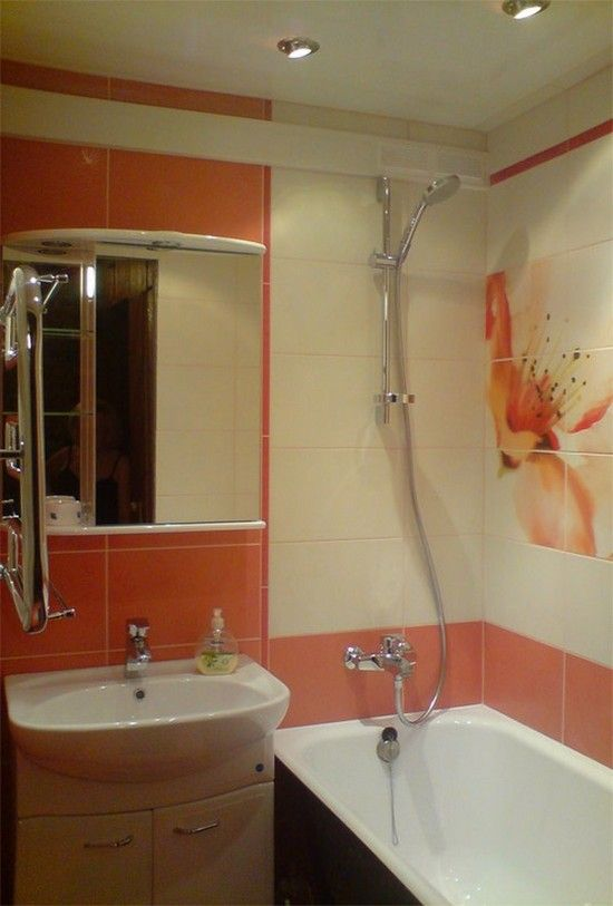интерьер маленькой ванной комнаты в хрущевке